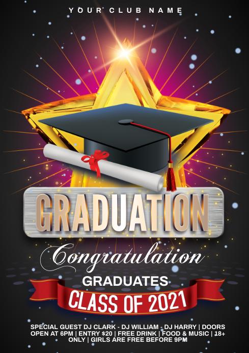 graduates A4 template