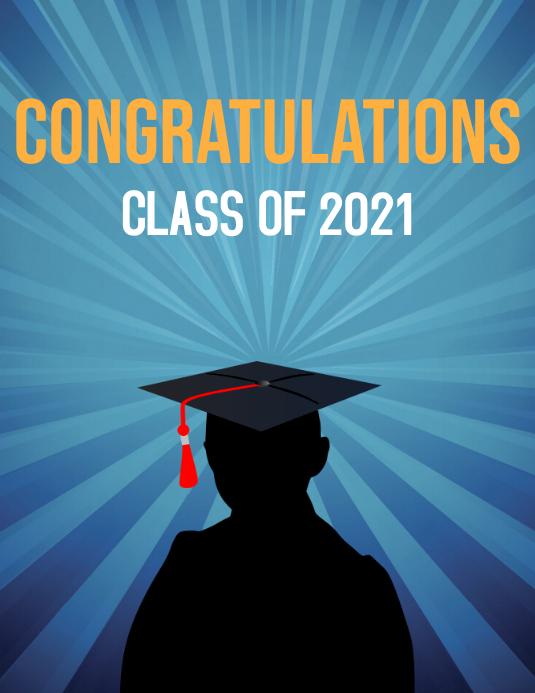 Graduating class Flyer (format US Letter) template
