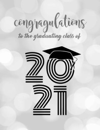 Graduating Class of 2020 Flyer (US-Letter) template