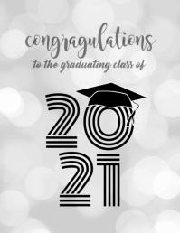 Graduating Class of 2020 Løbeseddel (US Letter) template