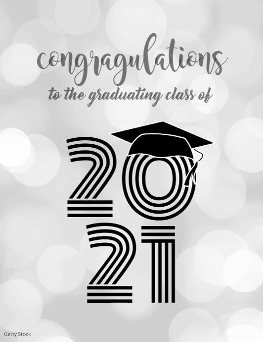 Graduating Class of 2020 Volante (Carta US) template