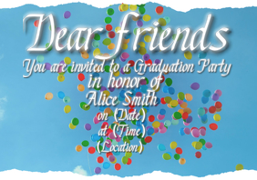 Graduating Invitation