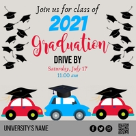 Graduation, Drive By Instagram Post template