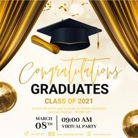 Graduation, Graduates, Congrats Graduates Instagram Post template