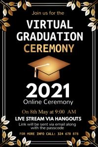 Graduation, Graduates, Congrats Graduates Cartel de 4 × 6 pulg. template