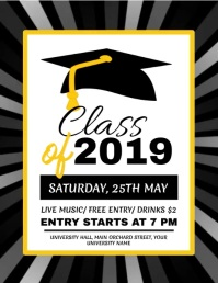 Graduation, Graduates, Graduation Party Flyer (format US Letter) template