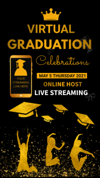 Virtual graduation,important announcement Instagram Story template