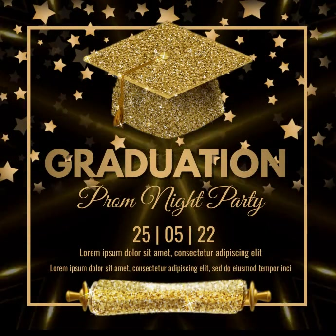 Graduation,event, party Message Instagram template