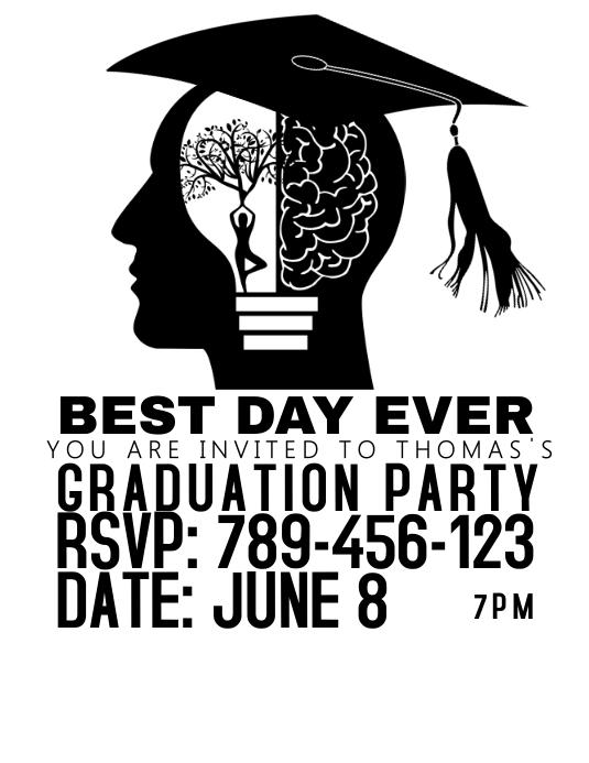 Graduation 2017 Flyer (US Letter) template