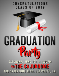 GRADUATION 2019 FLYER TEMPLATE Pamflet (Letter AS)