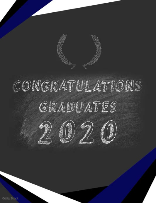 Graduation 2020 Flyer (format US Letter) template
