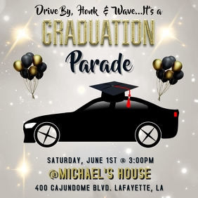 GRADUATION 2020 PARADE FLYER TEMPLATE