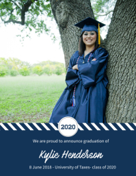 Graduation Announcement Card Design Template