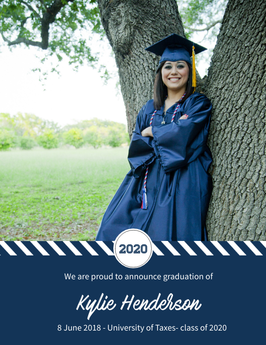 graduation announcement card design template postermywall