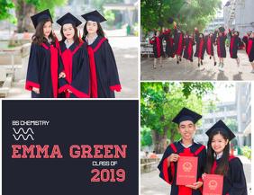 Graduation Announcement Collage Template