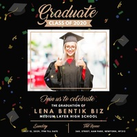 Graduation Announcement Publicación de Instagram template