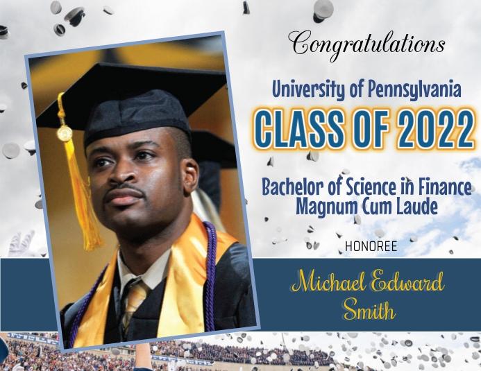 Graduation Announcement Flyer (format US Letter) template
