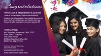 Graduation Announcement Publicación de Twitter template