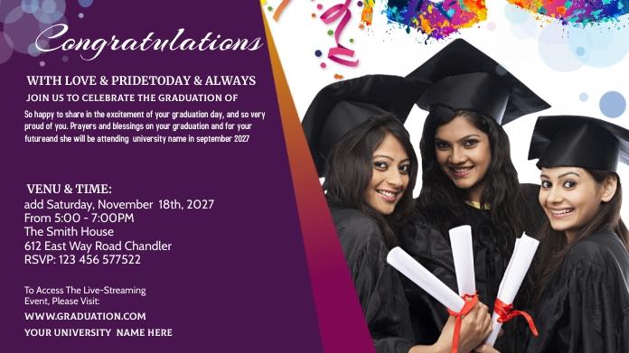 Graduation Announcement Pos Twitter template