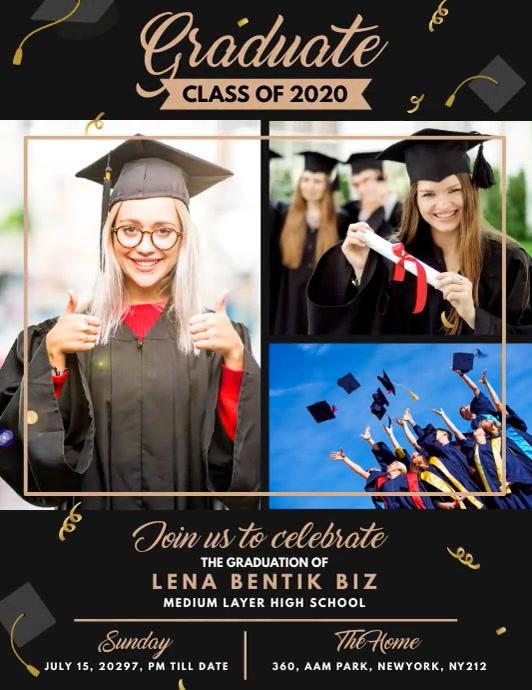 Graduation Announcement Flyer Pamflet (Letter AS) template