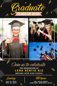 Graduation Announcement Poster Template Affiche