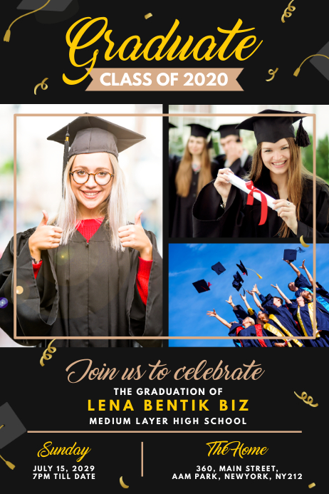 Graduation Announcement Poster Template