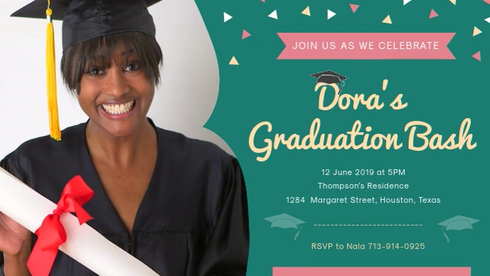 Graduation Bash Party Invitation