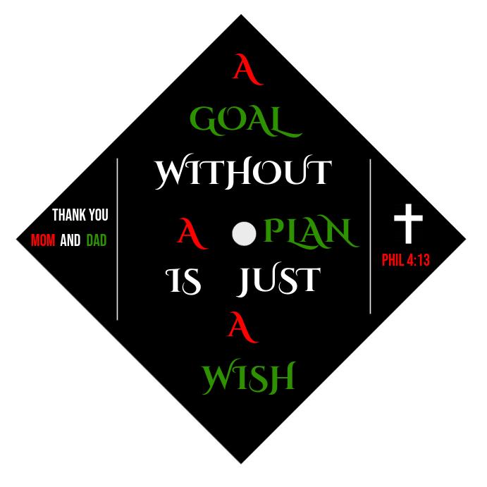 graduation cap design template postermywall