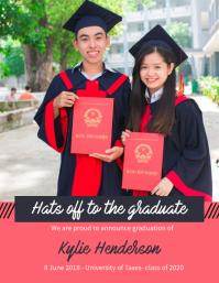 Graduation Celebration Card Template