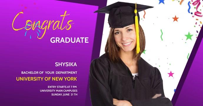 graduation celebration Facebook 共享图片 template