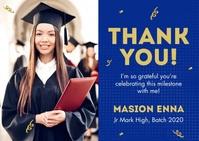 Graduation Celebration Postal template