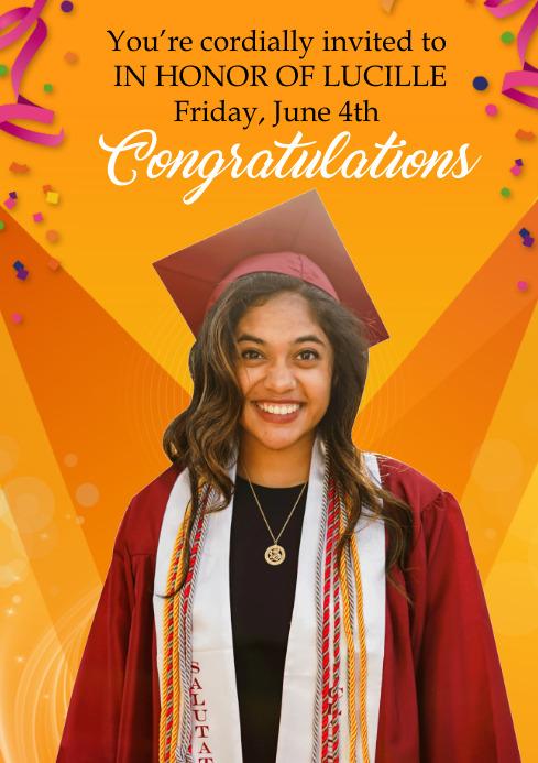 graduation celebration flyer A4 template