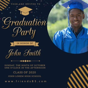 Graduation Celebration Invitation Post Kvadrat (1:1) template