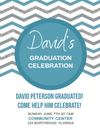 GRADUATION CELEBRATION INVITE FLYER TEMPLATE