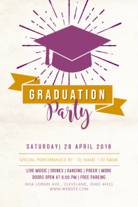 Graduation Celebration Party Poster Template