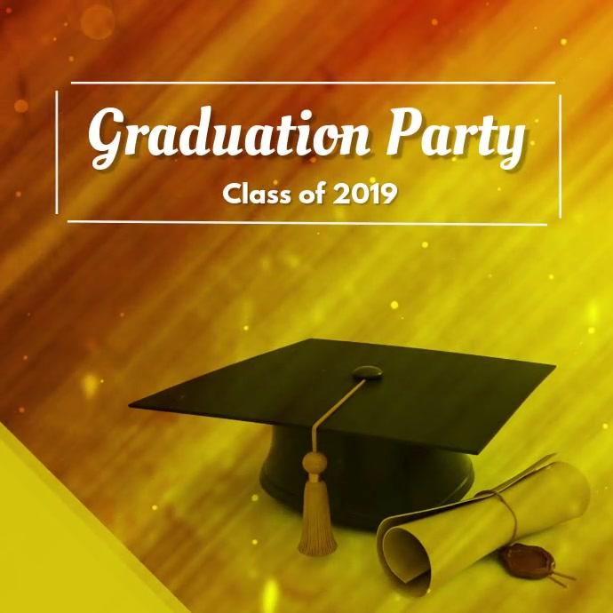 Graduation Ceremony Instagram poster design Iphosti le-Instagram template