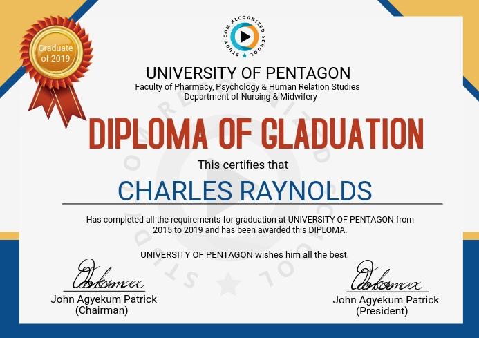 Graduation Certificate A4 template