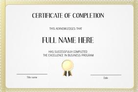 graduation certificate diplom template landscape