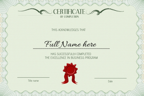 graduation certificate diploma graduate template landcsape