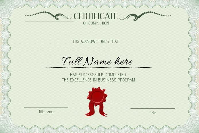 templates for graduation certificates