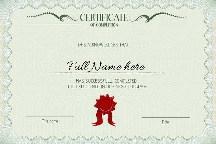 Customizable Design Templates For Graduation Certificate