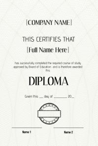 graduation certificate diploma graduate template