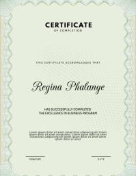 Graduation certificate diploma template