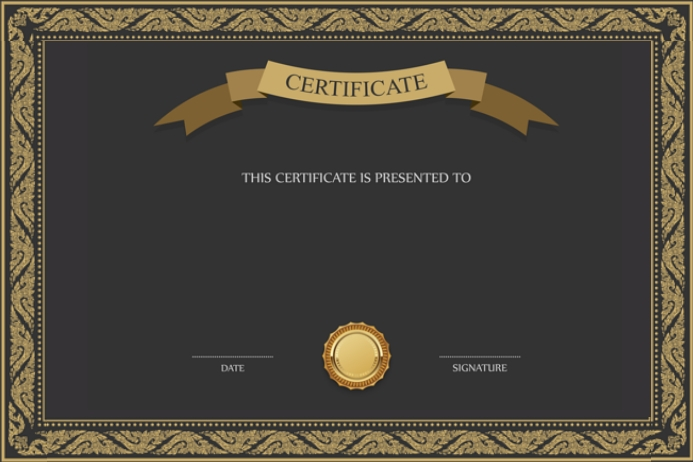 graduation certificate template postermywall