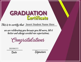 Graduation Certificate flyer Template