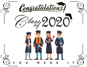 Graduation class of 2020 congratulations Pamflet (VSA Brief) template