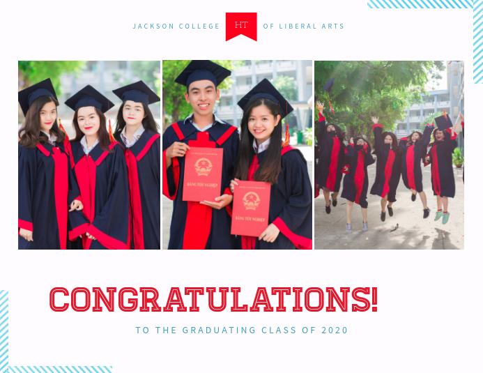 Graduation Collage Card Template Folheto (US Letter)