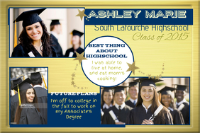 Graduation Collage Wall Art Poster template