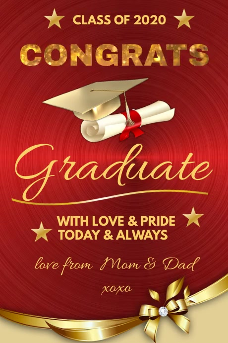Graduation Congrats Poster template
