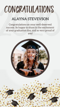 GRADUATION CONGRATS instagram story design template